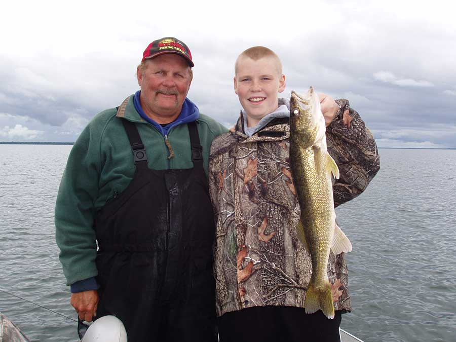 Fall walleye fishing