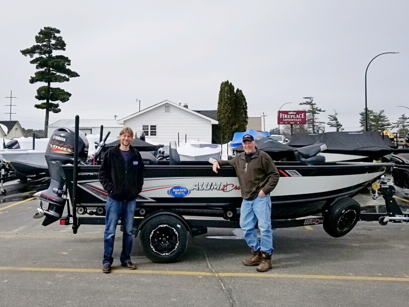 Jason Boser Alumacraft fishing boat