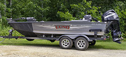 MN Fishing Pro guide Jeff Skelly with his Lund Pro Guide boat