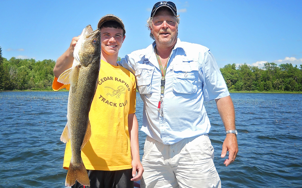 Pro Guide Jason Boser with walleye catch